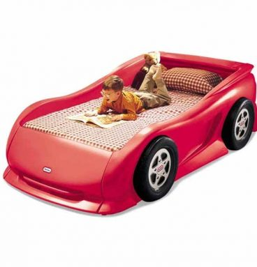 Cama Auto Deportivo Rojo