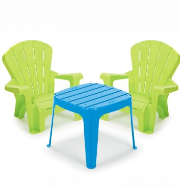 Garden Table & Chairs - Blue/Green